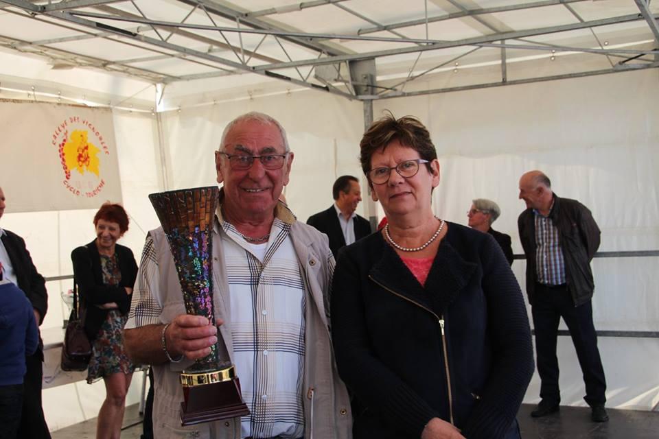 Rallye des vignobles octobre 2015, remise de coupe