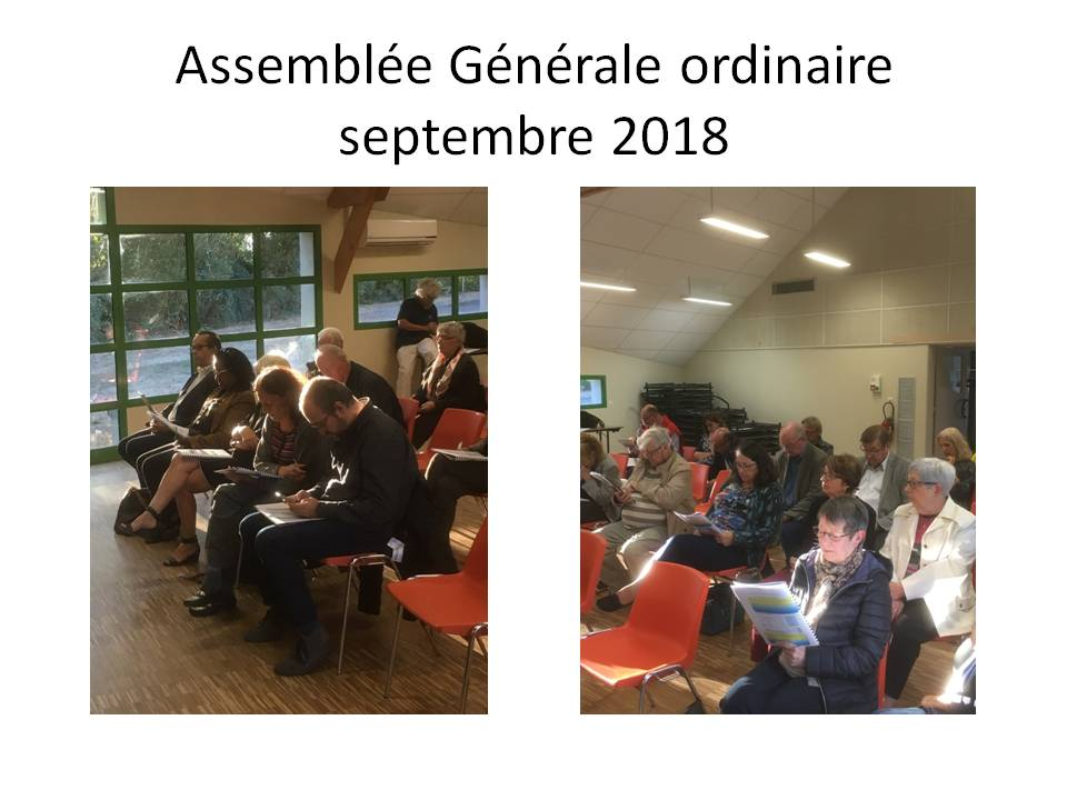 Septembre 2018, Assemblée Générale ordinaire