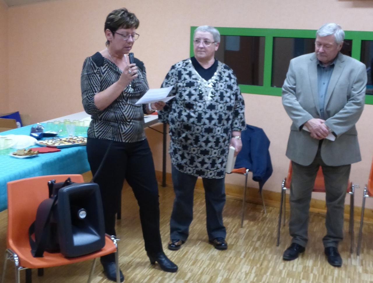 Nouvelle présidente Mireille Coulon novembre 2014