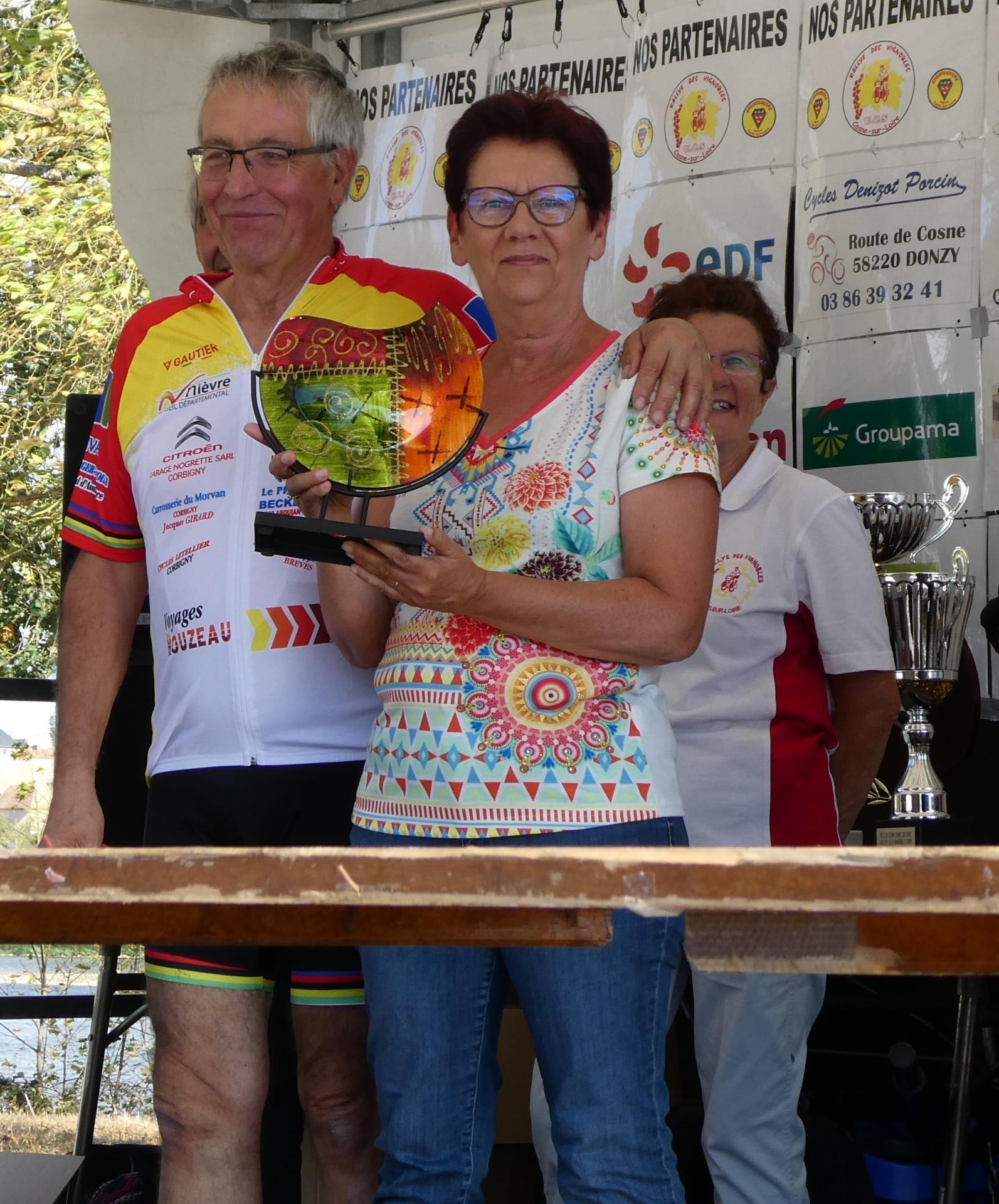 Octobre 2018 Rallye des Vignobles remise du  trophée Trajectoires